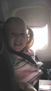 Renny in the airplane to Texas