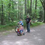 Biking at the campground