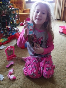 She loves Minnie and Hello Kitty!