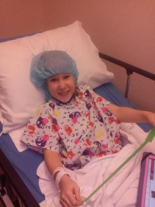 Before procedure - Happy!